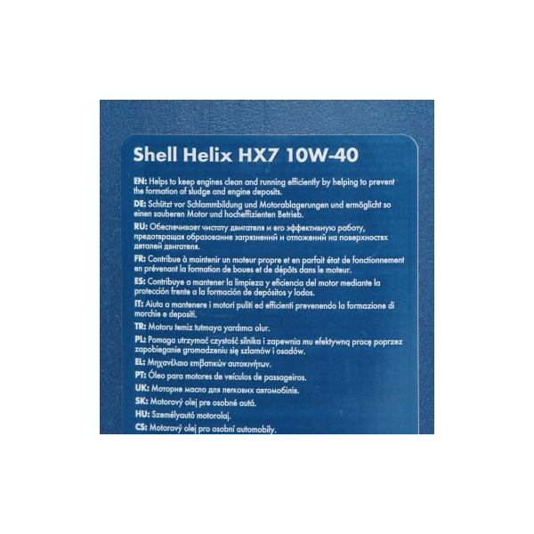 Motorolie Shell Helix HX7 10W40 1L