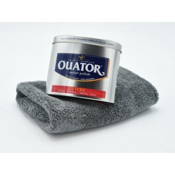 Ouator polijstmiddel voor RVS, Brons en Messing. Met gratis microfiber poetsdoek