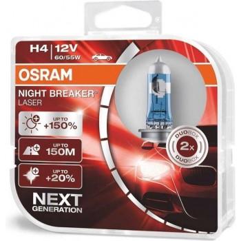 H4 Osram Night Breaker Laser +150% 64193NL-HCB