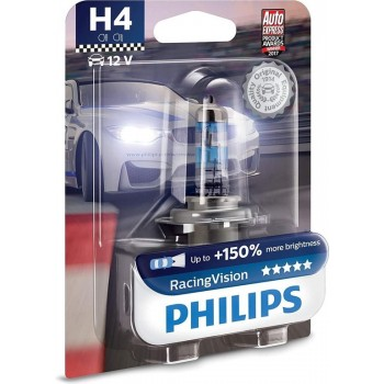 Philips H4 RacingVision +150% Blister 1 Lamp