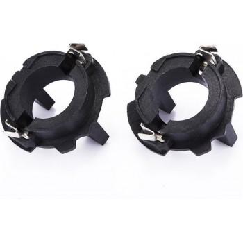 1 Paar H7 Xenon HID Koplamp Lampvoet Houder Adapter voor Volkswagen / Jetta / Golf 5 / Tiguan / Scirocco
