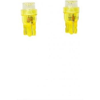 AutoStyle T-8 LED Lampen 12V Geel Wide-Angle, set à 2 stuks