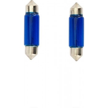 Autostyle Autolamp C5w 39 Mm 12 Volt 1 Watt Blauw Coated 2 Stuks