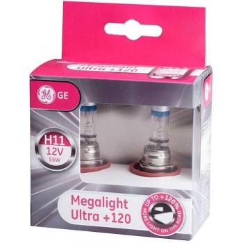 GE Halogeen Megalight Ultra +120 - H11 set