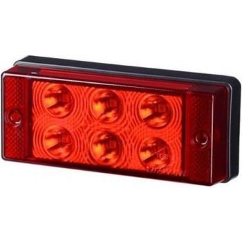 LED mistlamp - Rood - L1591