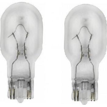 2 stuks Amerikaanse steek lamp, Nummer 921, 12 volt 16 watt, Model W16W, lamp model T15 / 12067
