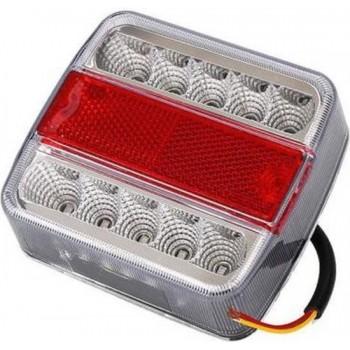 LED 3-kamer achterlicht 12 V 2 stuks