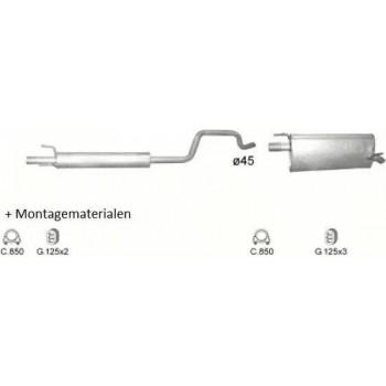 Complete Uitlaat Opel Meriva A 1.6 (Set319)