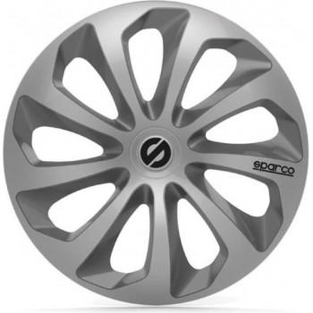 SPARCO 4 wielafwerkingen 14 inch Sicilia zilver en grijs