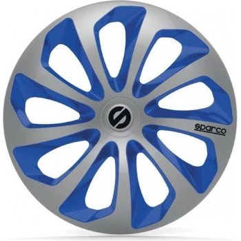 SPARCO 4 wielhoezen 16 inch Sicilia zilver en blauw