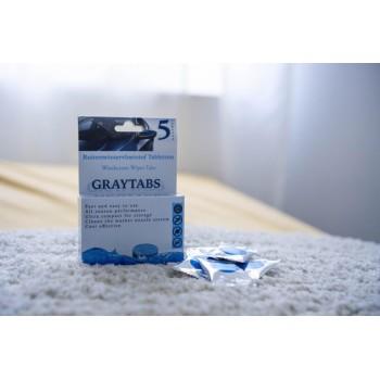 Graytabs-ruitenwisservloeistof tabletten-windscreen wiper tabs (5 in 1 pack)