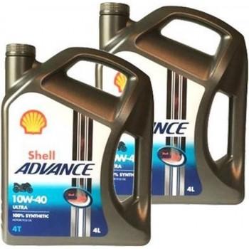 Shell Aanbieding: 2 X Advance 4T Ultra 10W40 4L