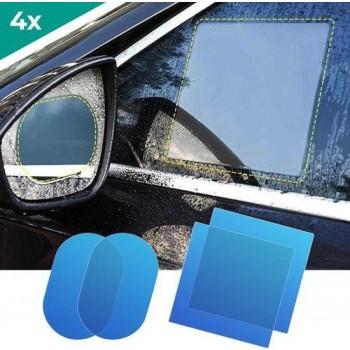 4x Nano Coating Folie / Spiegel Auto / Anti-regen / Spiegel Sticker / Spiegel Folie / Veiligheid / Gratis Verzending