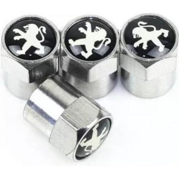 TT-products ventieldoppen aluminium Peugeot 4 stuks