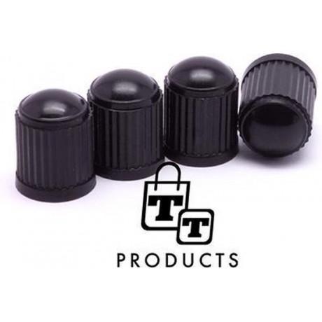 TT-products ventieldoppen plastic zwart 4 stuks