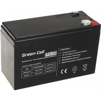 Green Cell 12V 7Ah (6.3mm) 7000mAh VRLA AGM accu