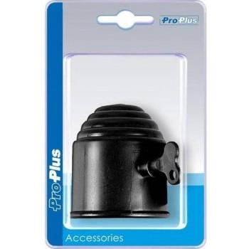 Pro+ Trekhaakdop zwart met slot in blister