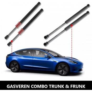 Tesla Model 3 Trunk en Frunk Gasveren Set Automatische Lift Ondersteuning Auto Accessoires NL en BE