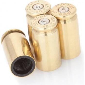 Lucky Shot -  40 cal Valve stem covers - Brass- 4pcs (koper)