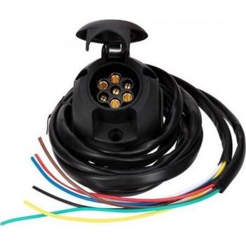 Quparts Universele kabelset voor trekhaak - 7-Polig incl. montage materiaal