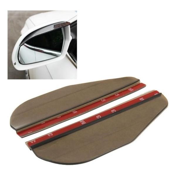 2 STKS Flexibele Lassen Regenscherm Zonneklep Schaduw Achteruitkijkspiegel voor Auto Achteruitkijkspiegels, (Transparant Zwart)