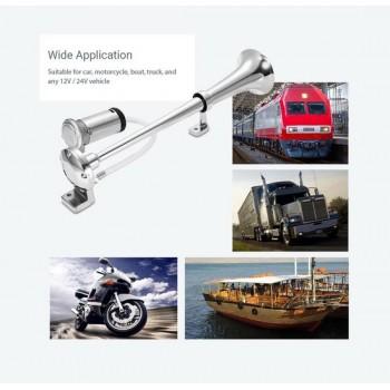 Voertuighoorn 130 DB 43cm DC 12V voor auto / vrachtwagen / boot / SUV / trein/