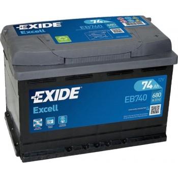 EXIDE EB740 Excell 12V 74 Ah 680A Autobatterij 3661024034555