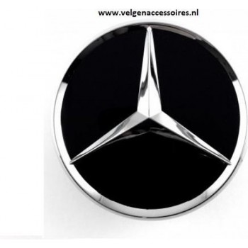 Mercedes naafdoppen glans zwart 75mm B66470200