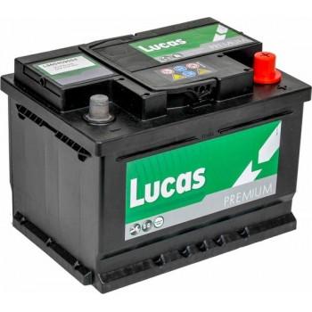 Lucas Premium Auto Accu   12V 60AH 540 CCA   + Pool Rechts / - Pool Links   Voetbevestiging