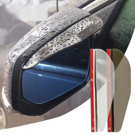 2 STKS Flexibele Shelding Regenscherm Zonneklep Schaduw Achteruitkijkspiegel voor Auto Achteruitkijkspiegels (transparant)