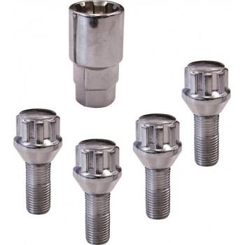 Anti Diefstal wielbouten - Conisch - 4 X M12 X 1,5 X 26mm