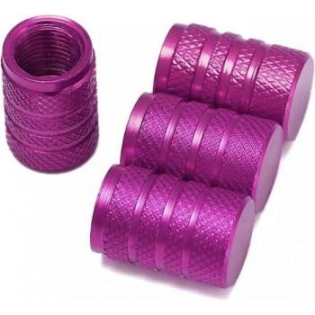 TT-products ventieldoppen 3-rings Purple aluminium 4 stuks paars