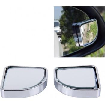 3R-015 2 STKS Car Blind Spot Achteraanzicht Wide Angle Mirror, Diameter: 5cm (zilver)