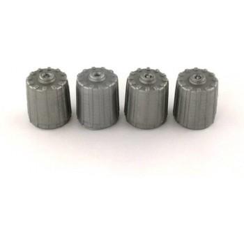4 TPMS kunststof ventieldopjes voor de auto - grijs ventieldop - ventieldoppen - ventiel - dop - doppen - dopje