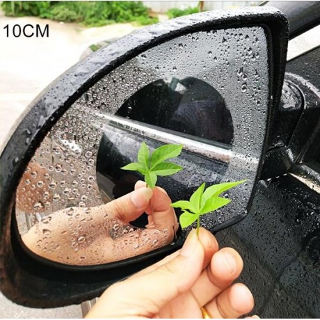 Auto Rond PET Achteruitkijkspiegel Beschermend Venster Helder Anti-condens Waterdicht Regenscherm Film, Diameter: 10cm