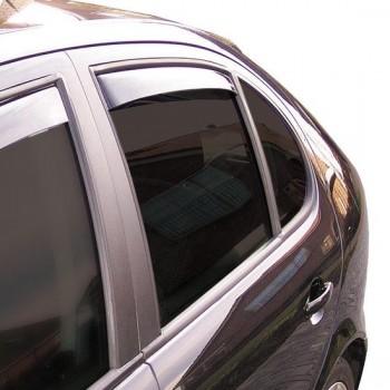 ClimAir Zijwindschermen Master Dark (achter) Dacia Sandero 5 deurs incl. Stepway 2008-