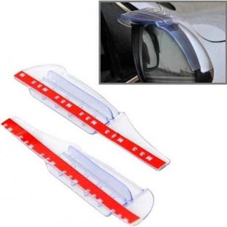 2 STKS Flexibele Shelding Regen Board Regen Wenkbrauw met Wind Gids Apparatus voor Auto Achteruitkijkspiegels (transparant)