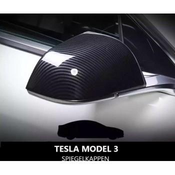 Tesla Model 3 Carbon Spiegelkappen Set Cover Auto Accessoires Exterieur Styling Nederland en België