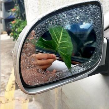 Auto Oval PET Achteruitkijkspiegel Beschermend venster Helder Anti-condens Waterproof Regen Shield Film, Afmetingen: 11 * 16cm