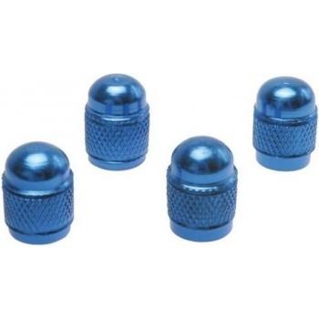 Ventieldopje blauw rond 4 stuks