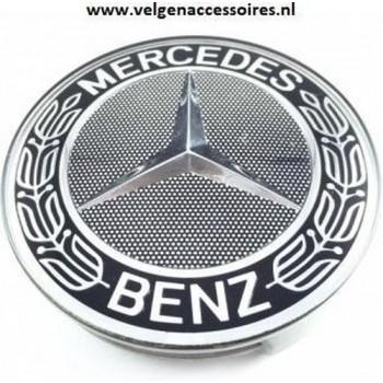 Mercedes naafdoppen krans zwart 75mm B66470201