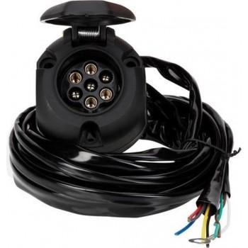 Quparts Universele kabelset voor trekhaak - 7-Polig met mistachterlicht uitschakeling incl. montage materiaal