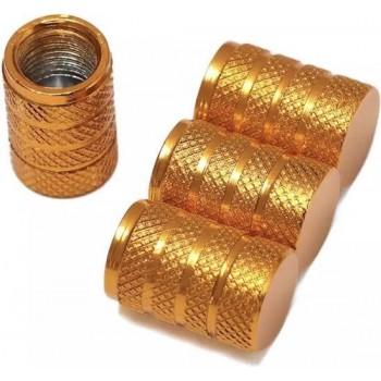 TT-products ventieldoppen 3-rings Gold aluminium 4 stuks goud