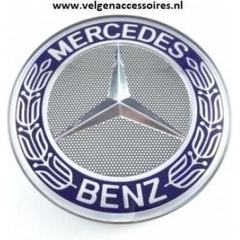 Mercedes naafdoppen blauw krans 76mm B66470120