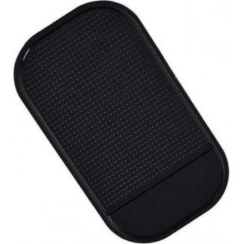 Anti-slip pad / matje - voor smartphone ed - zwart - 14 x 8 x 3 cm - voor in de auto