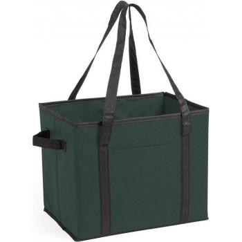 Auto kofferbak/kasten organizer tas groen vouwbaar 34 x 28 x 25 cm - Vouwbaar - Auto opberg accessoires