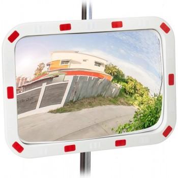 relaxdays verkeersspiegel buiten - buitenspiegel - spiegel voor veiligheid - convexe 60 x 40 cm