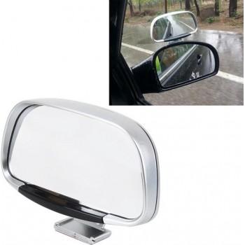 Auto Blind Spot Zijaanzicht Groothoek Convex Spiegel Vision Collectie Zijaanzicht Spiegel Dodehoekspiegel (zilver)