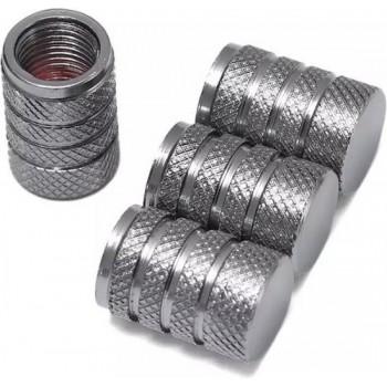 TT-products ventieldoppen 3-rings Grey aluminium 4 stuks grijs