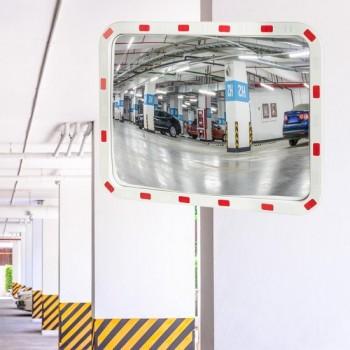 relaxdays verkeersspiegel buiten - veiligheidsspiegel - buitenspiegel - professioneel 80 x 60 cm